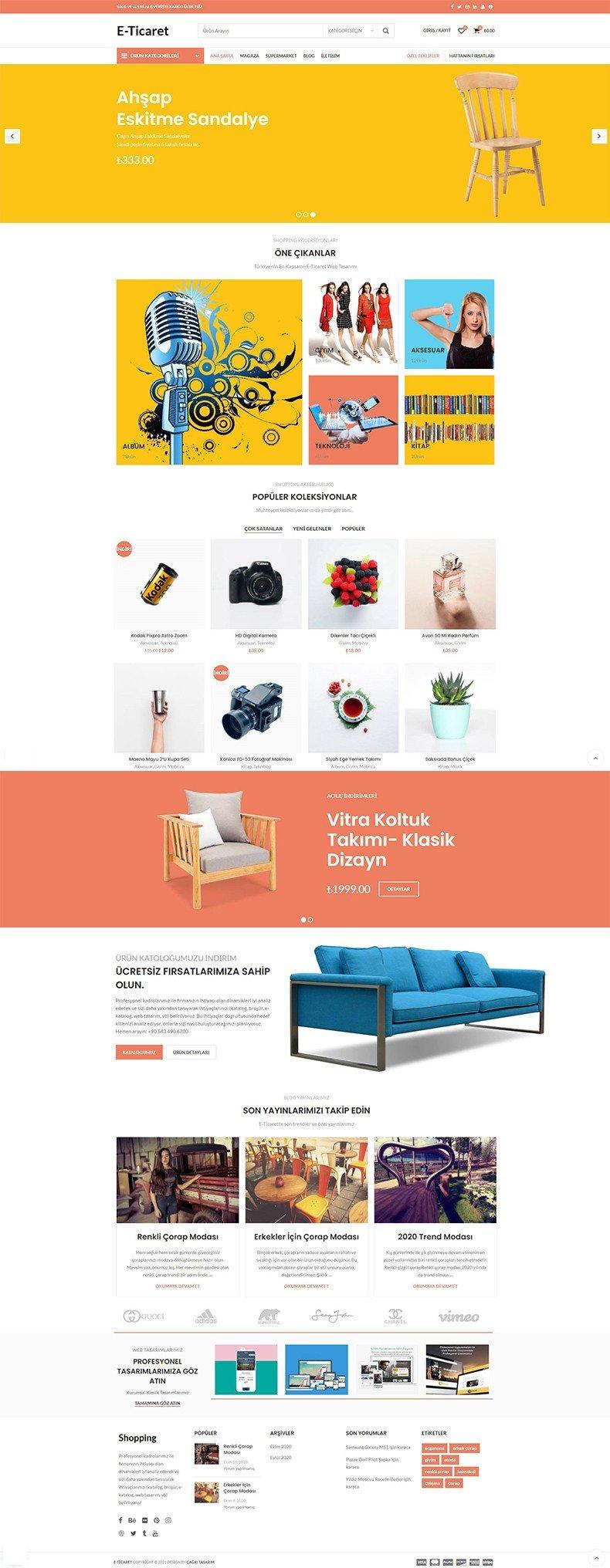 Shopping Web Tasarımı