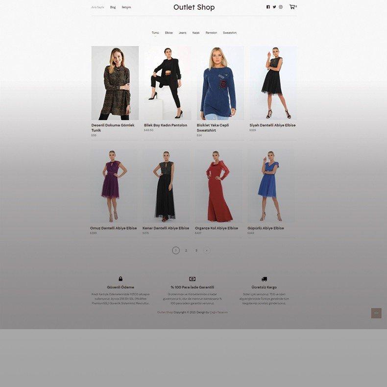 Outlet Shop Web Tasarımı