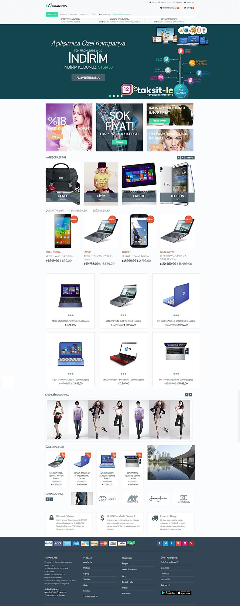 Shop E-ticaret Web Tasarımı