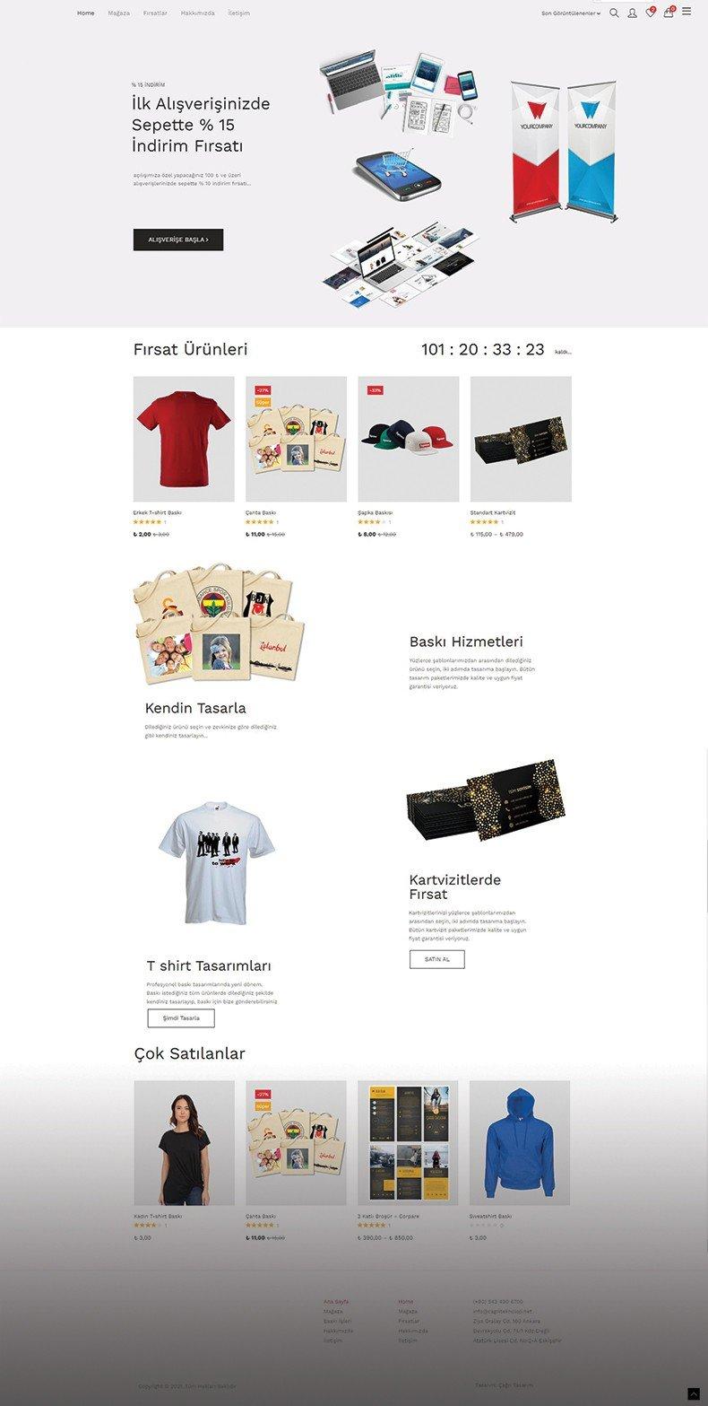 Tasarım Modüllü E-Ticaret Sitesi